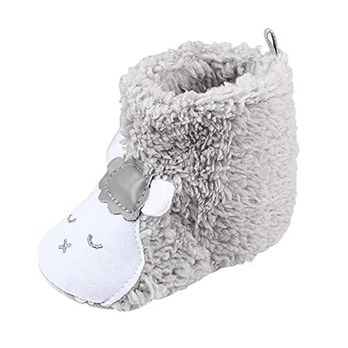 Baby Boys Girls Cute Bear Paw Animal Slipper Boots Newborn Toddler Infant Crib Shoes Walking Prewalker Shoes, Anti-Slip Soft Sole Baby Sneaker, Winter Warm Plush Fur Fleece House Slippers