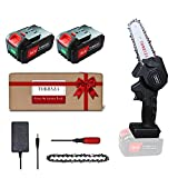 TORRYZA Mini Chainsaw 4-Inch Cordless Power Chain Saws, Portable 26V Electric Chainsaw, Pruning...