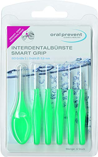 Oral Prevent Interdentalbürsten Smart Grip 0.80 mm grün, 1er Pack(1 x 6 Stück)