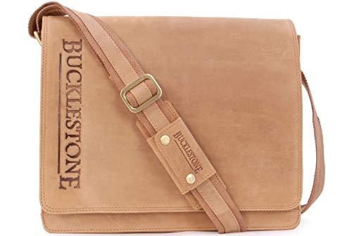 BUCKLESTONE - Bolso Bandolera/Messenger - Portátil/iPad/Tablet - Hunter Cuero - Lancaster...