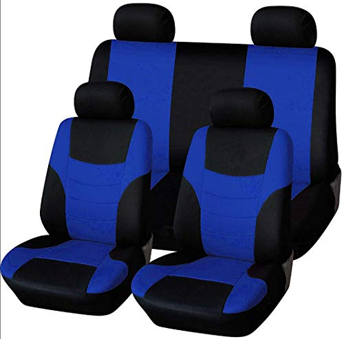 Autositzbezüge, Voll 8 Set vorne und hinten Universal-Resistant Bezüge Set, Auto-Innenraum-Zubehör Universal-Sitzbezug-Schutz (Grün),Blau