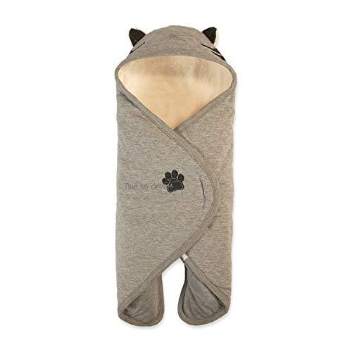 Premium Baby-Schlafsack-Kuscheldecke - Buutzi Einschlagdecke für Maxi Cosi u. Kinderwagen - geniale Baby-Geschenke zur Geburt oder Tauf-Geschenke - Baby Pucksack Grau