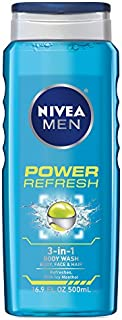 Nivea for Men Power Refresh Body Wash, 16.9 Ounce