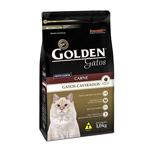 Ração Golden Gatos Adultos Castrados Carne 1kg