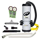 ProTeam Commercial Backpack Vacuum, MegaVac Vacuum Backpack with Blower Tool and Hard Surface Nylon Brush Tool Kit, 10 Quart, Corded