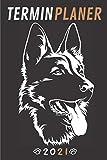 Terminplaner 2021 hund: hunde kalender 2021 | Wochenplaner 2021 Schäferhund A5 Planer organizer 2021 | Taschenkalender und Terminkalender - ... Geschenk männer hundeliebhaber & dogs lovers