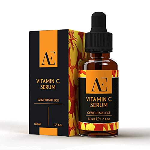 BIO Vitamin C Serum hochdosiert & vegan ● 5{100a78103ea2167ded1be974bf7523e3e5786bd4961afa5b3c521bf2c0745cc3} Ascorbinsäure ● Naturkosmetik ● natürliche Inhaltsstoffe - 50ml ● AE Kosmetik ● Anti Aging mit Aloe Vera Saft ● Dermaroller geeignet ● Made in Germany