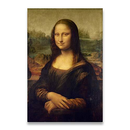 Sonrisa de Mona Lisa Retrato Arte de la lona Reproducciones de pintura Clásico Da Vinci Impresiones de arte famosas para la sala de estar Cuadros Decor-20x30inch Sin marc
