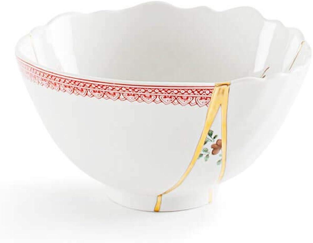 seletti kintsugi ciotola ,in porcellana e oro 24 carati mod. 1 124133