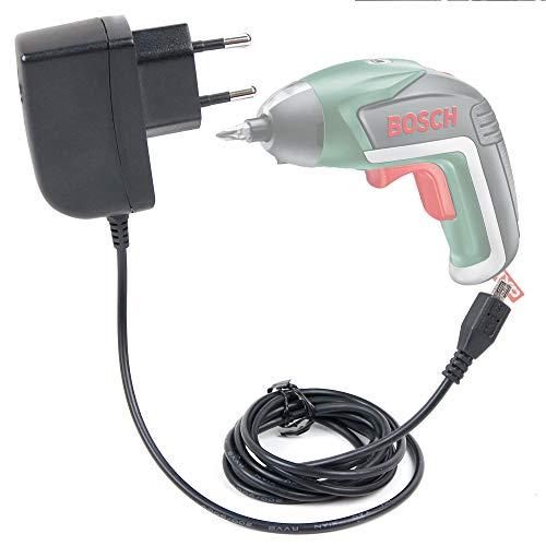 Duragadget Ladegerät für Bosch kabellos, IXO/IXO V klassisch/PSR Select/YUseries Drill und für Bosch Go 3,6 V Schrauber, Bohrmaschine – Micro USB Wandsteckdose