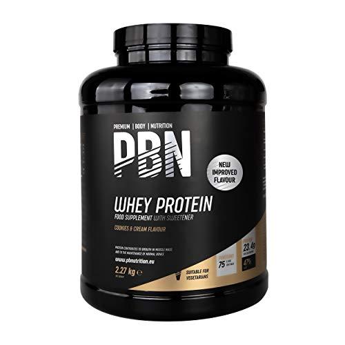 PBN - Proteína de suero de leche en polvo, 2,27 kg (sabor galleta y nata)