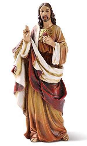 Joseph's Studio by Roman - Sacred Heart of Jesus Figure, 6' Scale Renaissance Collection, 6.25' H, Resin and Stone, Religious Gift, Decoration