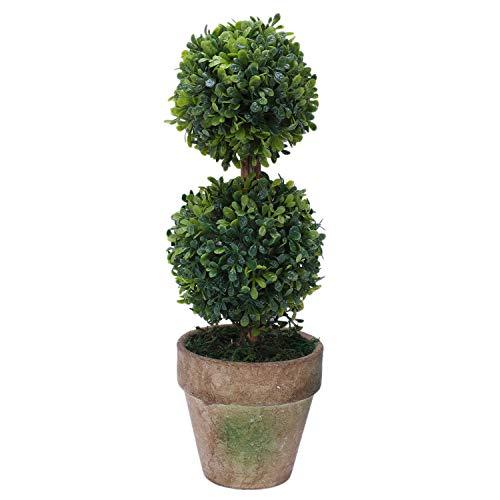 CKMSYUDG Árboles de plástico artificial en macetas para decoración de jardín, patio, interior y exterior. Patrón: dos bolas