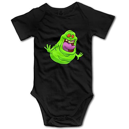 Mark Stars Ghostbusters Newborn GILR Boy's Kid Baby Romper Short Sleeve Bodysuit(12M,Black)