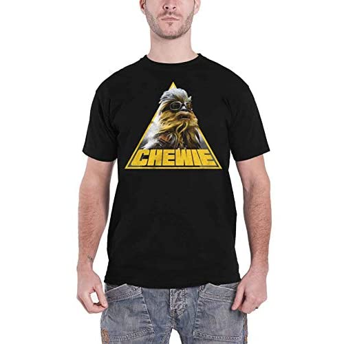 Star Wars T Shirt Han Solo Movie Tri Chewie Portrait Nuovo Ufficiale Uomo