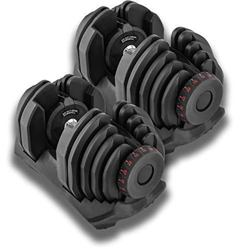 Gorilla Gadgets Adjustable Dumbbells 10-90 lbs, Compact Gym Weights, 17 Weight Sets in One for Women and Men, Perfect for Home, Office, Traveling