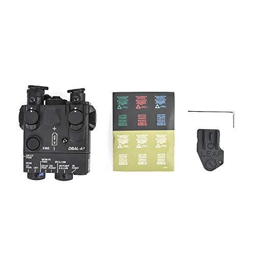 WADSN Navy Seal PEQ-15A DBAL-A2 Modelo de Caja de batería simulada PEQ para Pantalla táctica Airsoft AEG(Black)