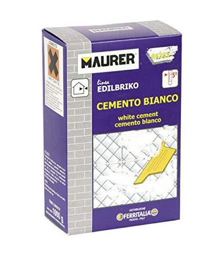 Maurer 14010300 Edil Cemento Blanco Maurer (Caja 1 kg.)