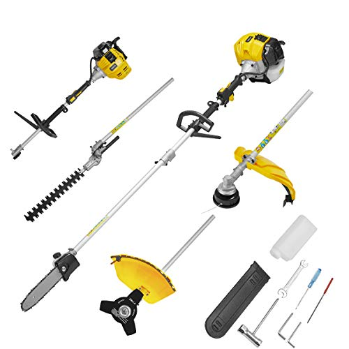 MELLCOM 52CC 2 Cycle 4 in 1 Multi Trimming Tools with Gas Hedge Trimmer, Grass Trimmer, Chinsaw Brush Cutter, Gas...