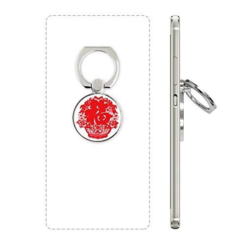 DIYthinker Rode Chinese Lantaarn Traditioneel Patroon Telefoon Ring Stand Houder Beugel Universele Smartphones Ondersteuning Gift