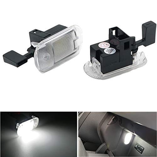 PolarLander 2pcs 18SMD Module de lumière de Compartiment de boîte à Gants de for V/W Beetle Bora Jetta MK4 Caddy Golf MK4 Passat B5.5 Touran Touareg