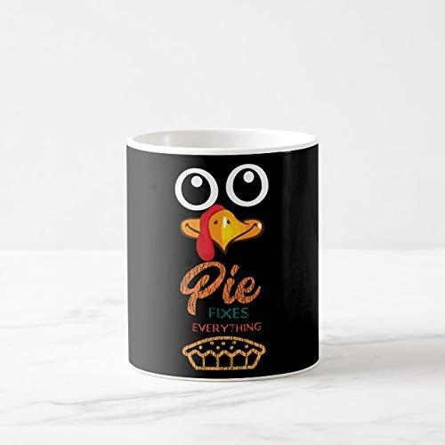 Taza de caf divertida de 11 onzas, tarta de caf para disfraz de accin de gracias de pavo, de cermica nica, regalo navideo de Hanukkah para los amigos que aman las tazas de t y las tazas de caf