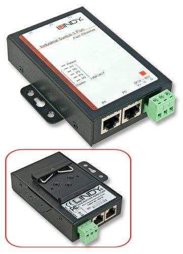 LINDY 5 Port Industrie-Switch 10/100Mbit/s für den Schaltsch, 25072
