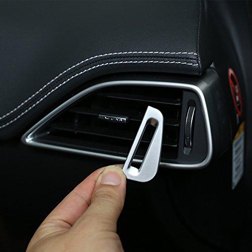2Silber matt ABS Chrom Auto AC Vent Steckdose Anpassung Schalter Deckel PAILLETTEN Trim