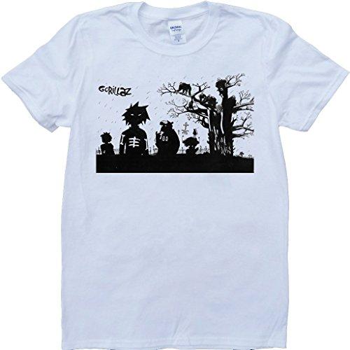 Gorillaz Weiß Benutzerdefinierten Gemacht T-Shirt - Large