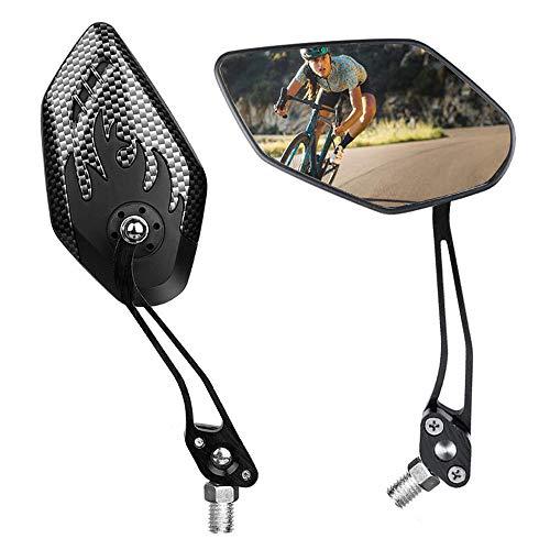 Klevsoure Espejos retrovisores de Bicicleta Un par de 360 Grados de rotación Ajustable Manillar Espejo de Bicicleta para Bicicletas eléctricas de Carretera MTB Ebikes