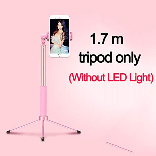 4 in 1 Selfie Ring Light 1.7m Uitschuifbare Selfie Stick Statief Selfie LED Ring Light Met Monopod Telefoonhouder voor smartphones Make-up Video-opnamen