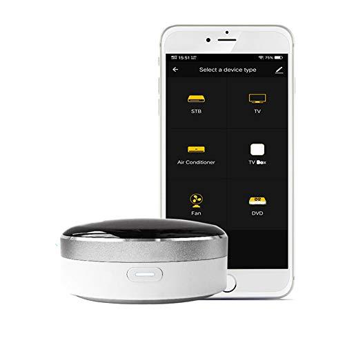 WiFi Remote IR Control Hub Universal Blaster Control One for All Control AC TV DVD CD AUD Sat, etc, a través de Smart Life/Tuya App Compatible con Alexa Google Home, no Requiere Hub