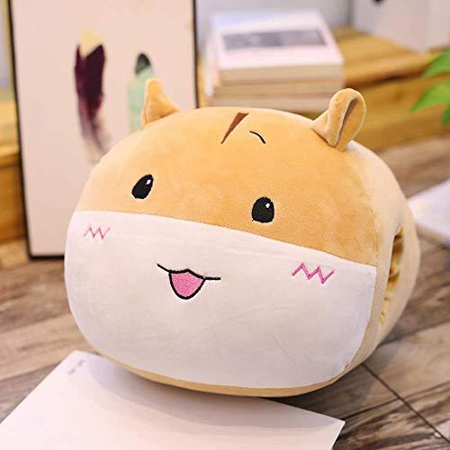JKLI Cartoon weiche Hamster Handwärmer Plüsch-Spielzeug for Kinder, Kuscheltiere Baumwolle Kissen, Geburtstags-Geschenk for Kinder 30x35cm (braun) Wangwu