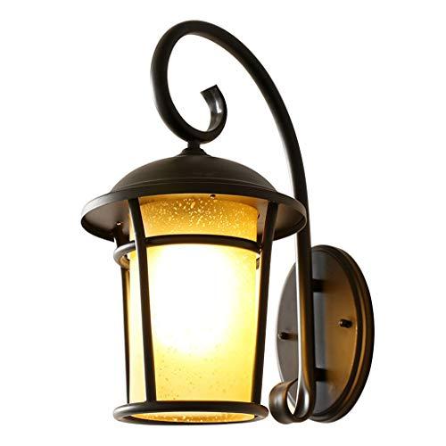 Buitenwandlamp, waterdicht, roestvrij, ZS, vintage, wandlamp, buiten, lantaarn, wandlamp, netvoeding van aluminium met LED-verlichting voor de veranda, paviljoen, Villa Garden Pathway