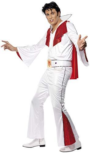 Smiffys, Herren Elvis Kostüm, Hemd, Hose, Umhang und Gürtel, Größe: L, 29151