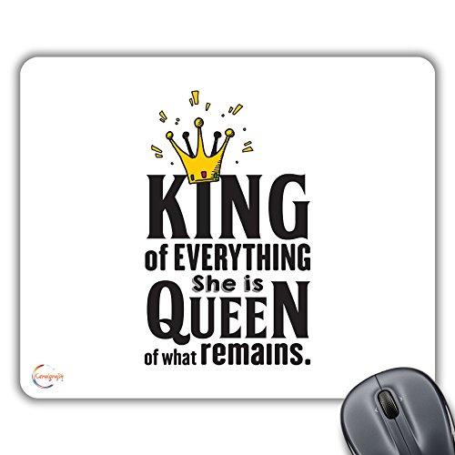 CP138 Koning van Alles Ze is Koningin van Wat blijft Nieuwigheid Gift Gedrukt PC Laptop Computer Mouse Mat Pad