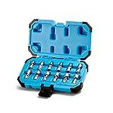 Capri Tools 1/4 in. Drive Universal Socket Set, 5-15 mm Metric, 12-Piece