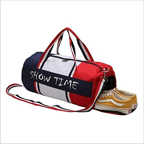 Fengdp Bolsa de Yoga Bolsa estanca y separación húmeda Aptitud Bolsa de Deportes Cilindro portátiles Bolsa de Deporte Bolsa Bolsa de Deporte tas tassen Recorrido Impermeable (Color : S Shoe Position)
