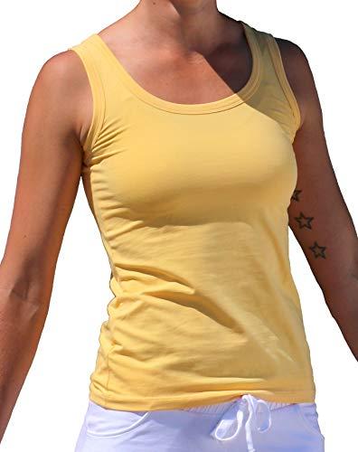 Esparto Auron - Camiseta de tirantes para yoga (algodón ecológico, talla L)