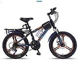 Aoyo Kinder Fahrrad, 20-Zoll-Variable Speed Mountain Bike - 21 Geschwindigkeit bequemer Sattel, rutschfestes Pedal, Federgabel, sicher und einfühlsam Brake, (Color : Blue, Size : B)