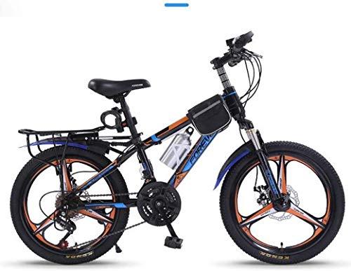 20-pulgadas variable bicicleta de montaña velocidad - 21 de velocidad cómoda silla, pedales antideslizantes, Suspensión Tenedor, seguro y sensible freno, bicicletas for niños, tamaño: B, Color: Blanco