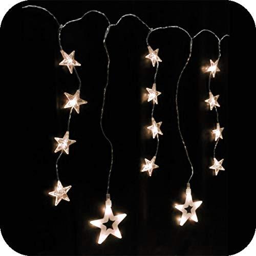 Haushalt Int. LED Lichterkette Sterne Fensterdekoration Fensterbeleuchtung, kaltweiß