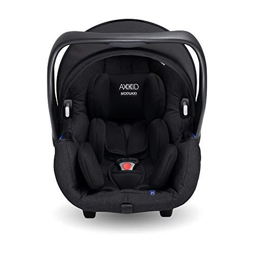 AXKID MODUKID INFANT Silla de Coche Grupo 0 y 1, Asiento de Automóvil para Niños de 0-13 Kg, Sillita para Coche, Silla de Coche de Bebé de 0 Meses hasta 1 Año (Negro)