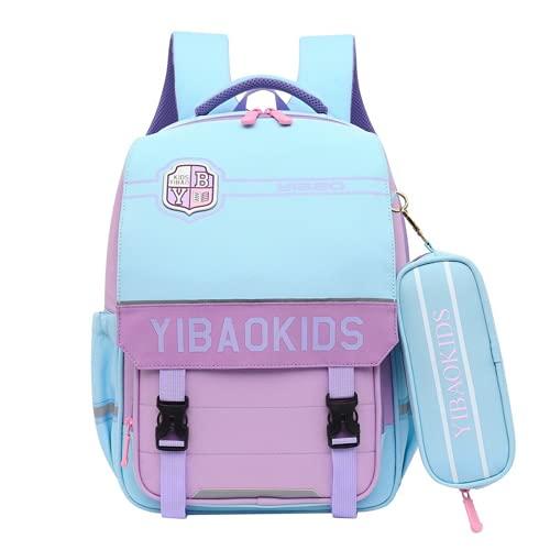 MINGPAI La mochila del estudiante es liviana y sin carga, mochila para niños, la tendencia de la mochila de los estudiantes de primaria, gran capacidad con múltiples bolsillos (3,42 * 31 * 16CM)