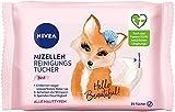 NIVEA 3in1 Hey Beautiful! Mizellen Reinigungstücher (25 Stück), sanfte Gesichtsreinigungstücher...