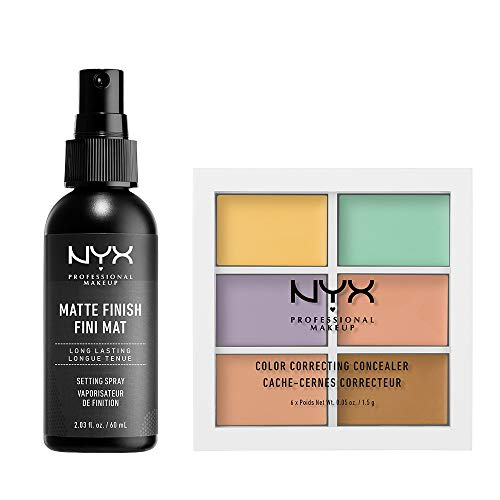 NYX PROFESSIONAL MAKEUP Makeup Setting Spray Matte Finish + Concealer Color Correcting Palette