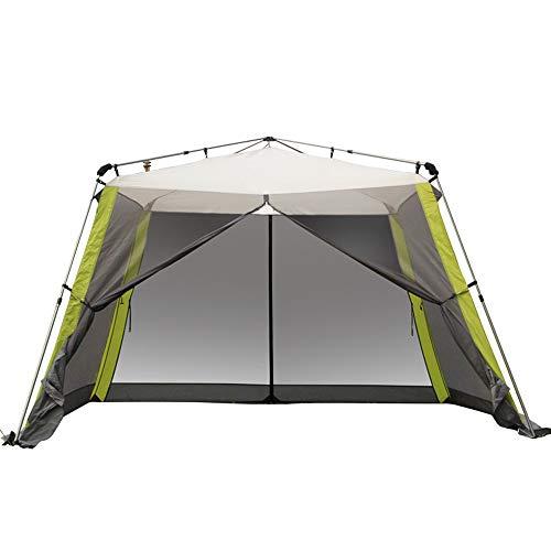 Forall-Ms 3×3m Pop Up Garten Pavillon mit Seiten, fünf Mann Zelt wasserdicht Baldachin Markise Camping Rucksack Kuppel Schutz