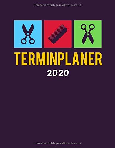Terminplaner 2020: Terminbuch Friseur Salon mit viertelstündiger Einteilung für Termine | Tagesplaner Januar bis Dezember 2020 | Von 7.00 Uhr bis 20.00 Uhr