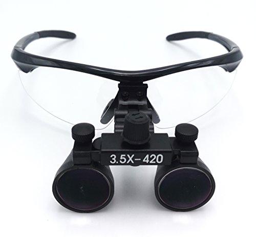 Doc.Royal 黒色拡大鏡 ポータブル拡大鏡 双眼ルーペ 3.5X拡大鏡 420mm 黒色ルーペ