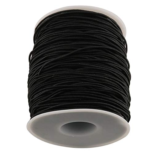 E-outstanding Elastic String 100m/Roll 1mm Round Elastic Cord Beading Wire Stretch Nylon Thread Rope for Jewelry Making DIY Craft Black